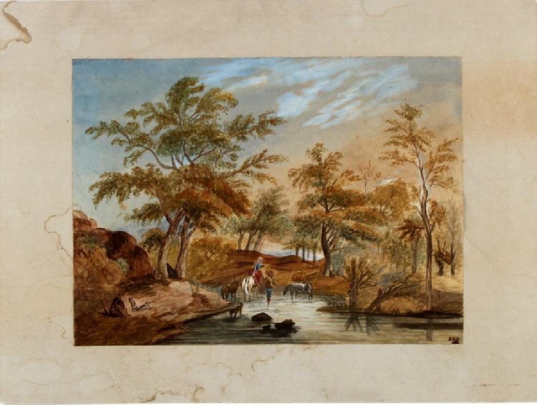 RICHARD PARKES BONINGTON WATERCOLOR LANDSCAPE