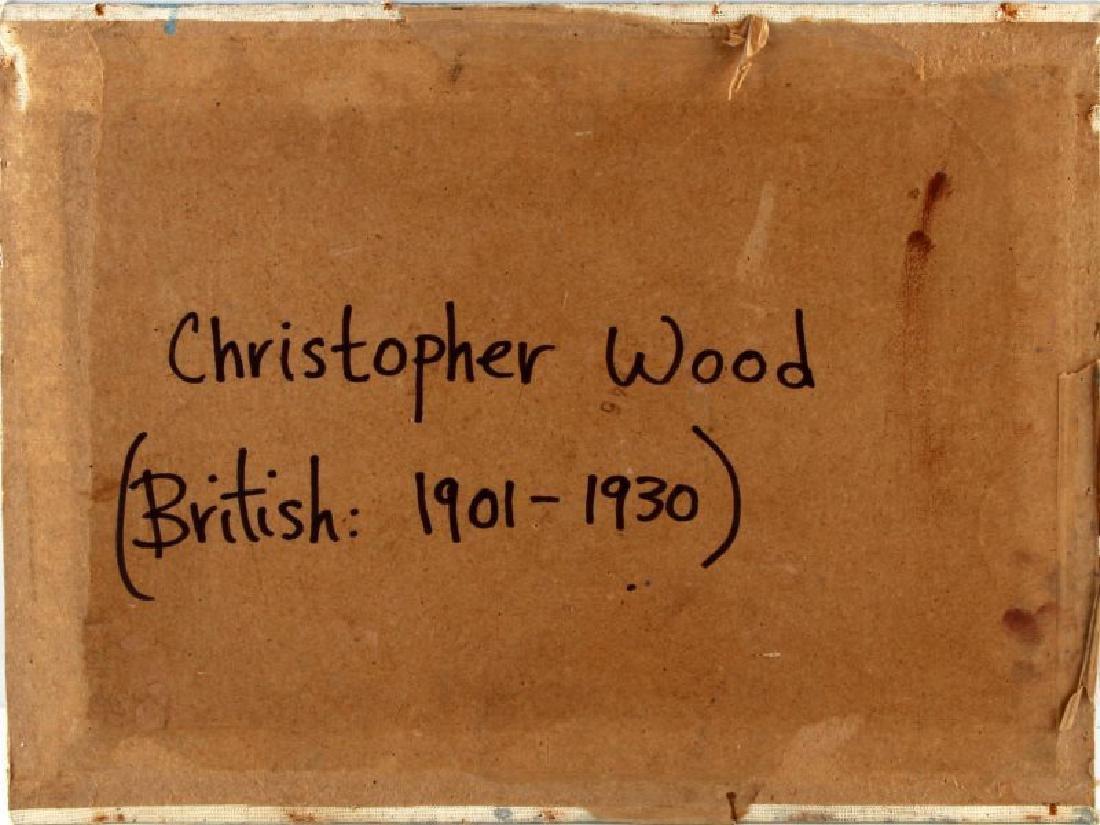 1926 CHRISTOPHER WOOD COASTAL SCENE OIL ON BOARD - 5