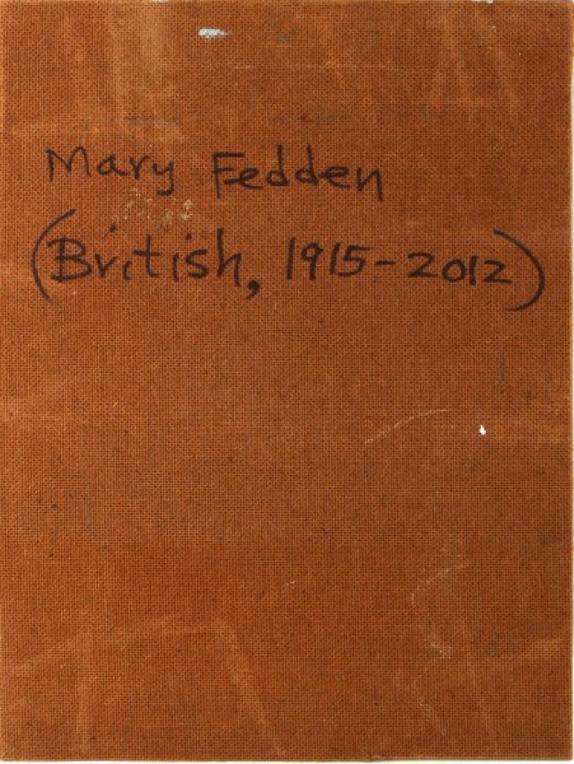 MARY FEDDON FLORAL OIL ON BOARD - 4