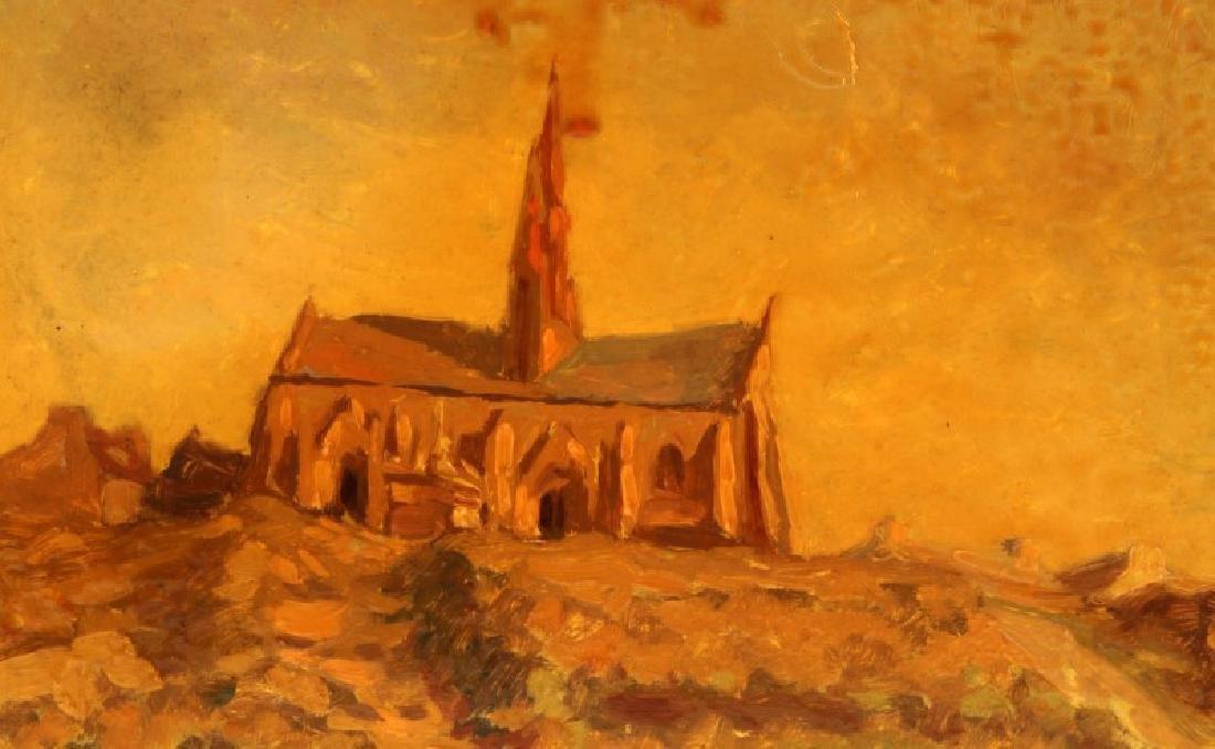 WINSTON CHURCHILL LANDSCAPE  OIL ON BOARD - 2