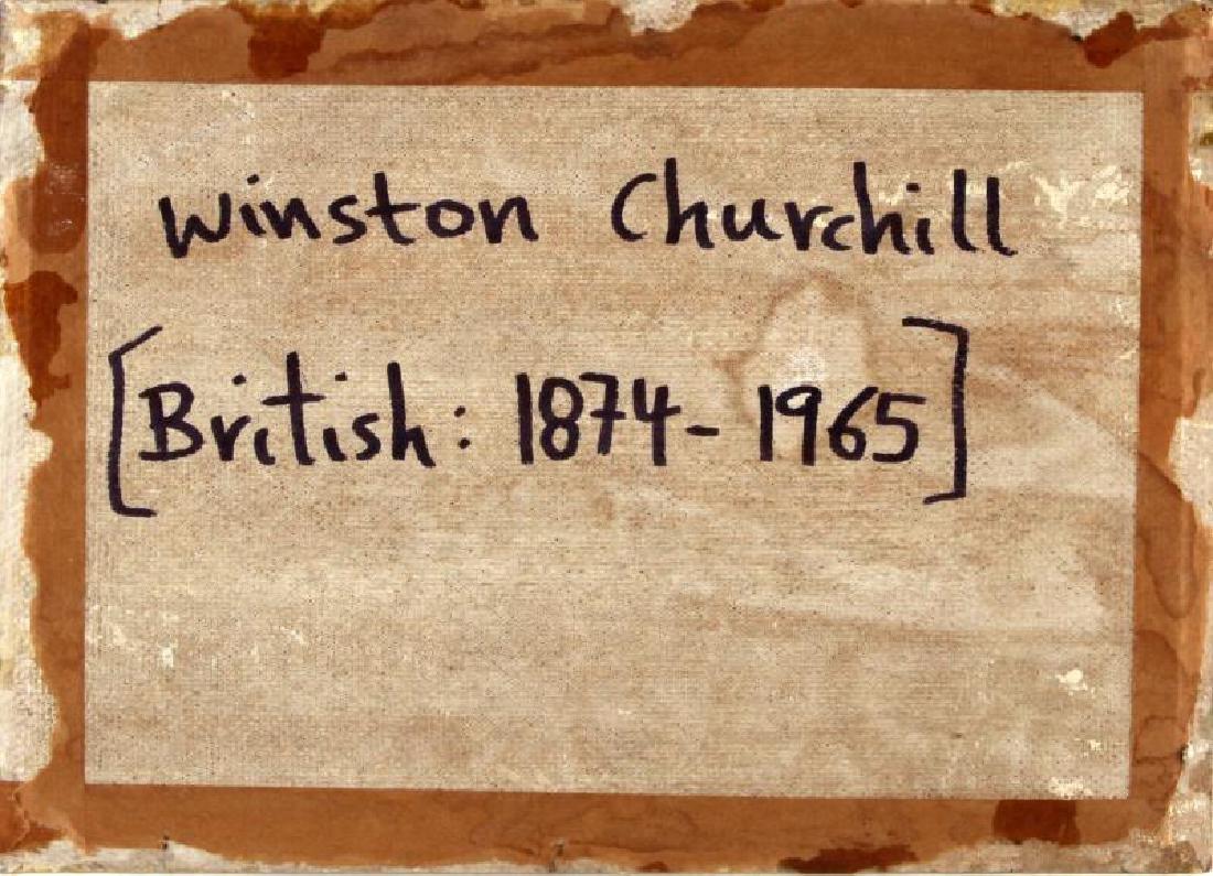 WINSTON CHURCHILL LANDSCAPE  OIL ON BOARD - 4