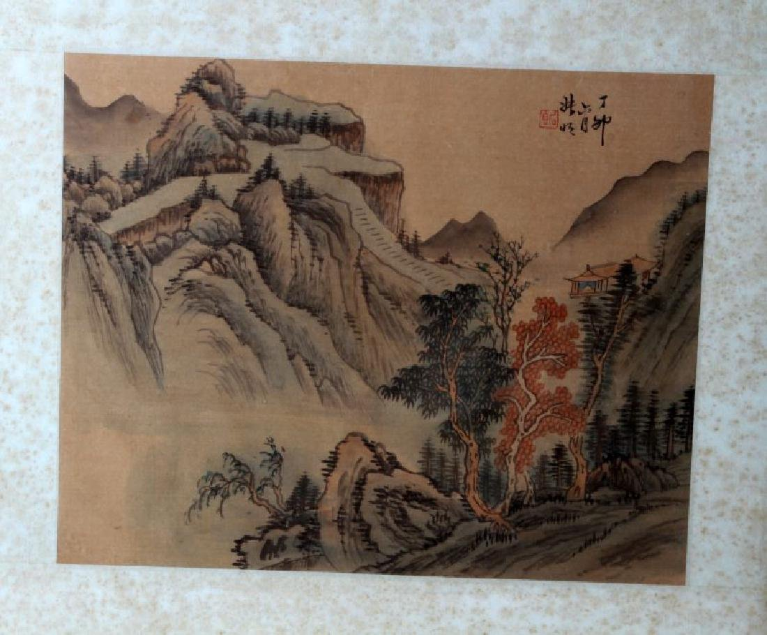 LOT OF TWO JAPANESE LANDSCAPE PAINTINGS - 3