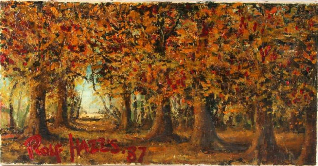 OIL & ACRYLIC ON CANVAS AUTUMN BY ROLF HARRIS '87