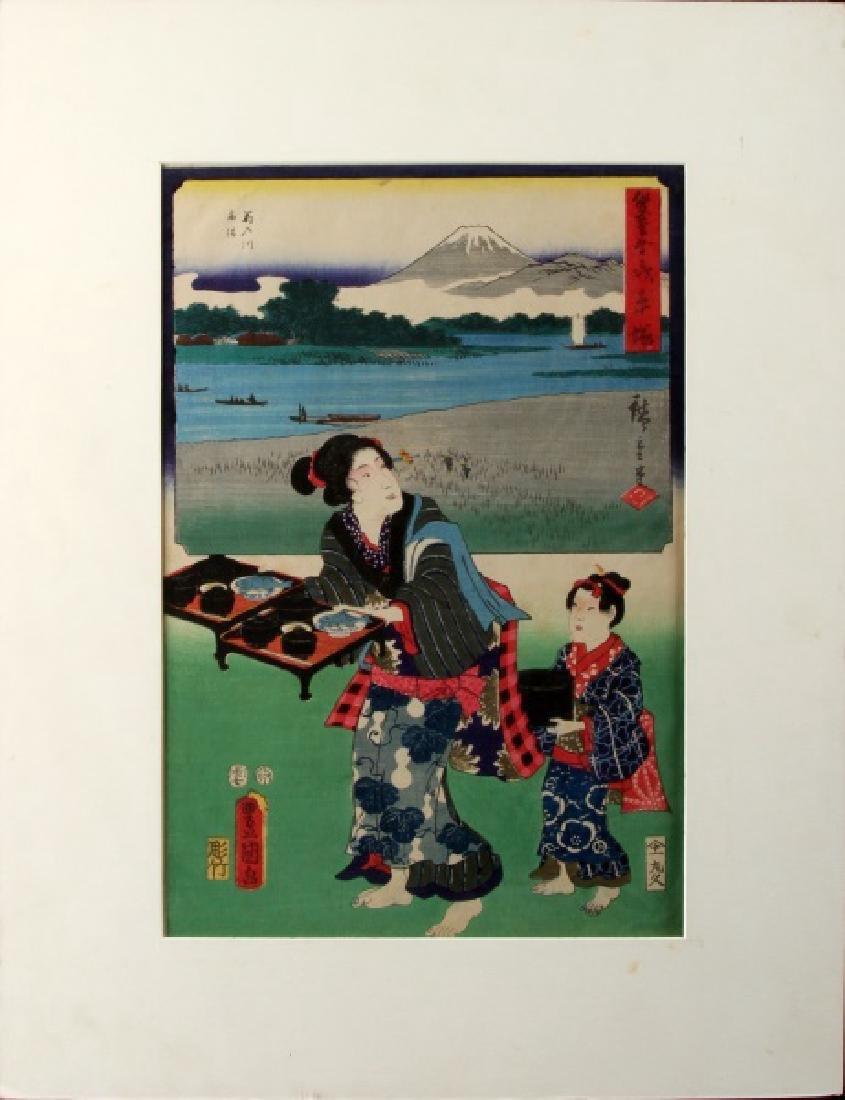 JAPANESE WOODBLOCK ART PRINT TOYOKUNI III