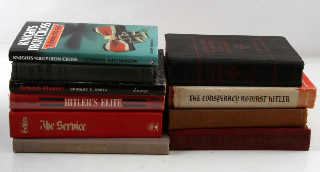 LOT OF 10 GERMAN HISTORY AND HITLER BOOKS