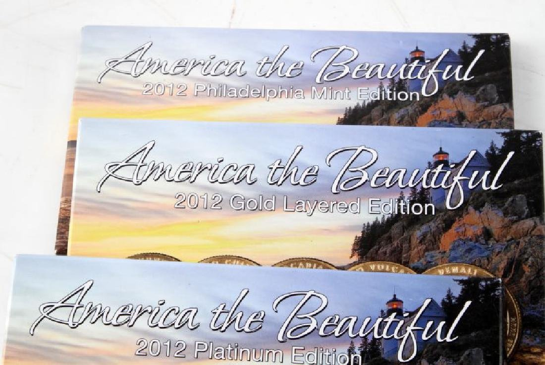 AMERICA THE BEAUTIFUL BU QUARTER SETS 2011 2012 - 4
