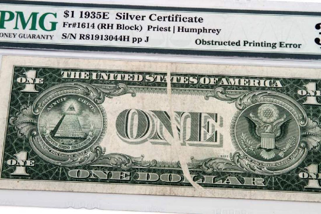 ERROR NOTE 1935 SILVER CERTIFICATE OBSTRUCTED PRIN - 2