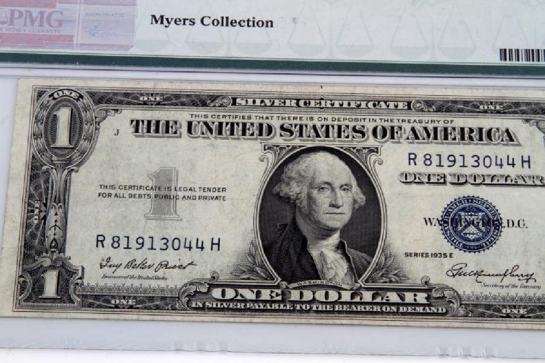 ERROR NOTE 1935 SILVER CERTIFICATE OBSTRUCTED PRIN - 4