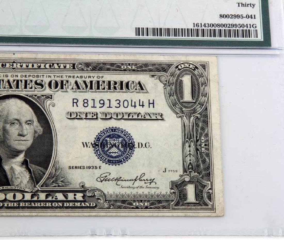 ERROR NOTE 1935 SILVER CERTIFICATE OBSTRUCTED PRIN - 5