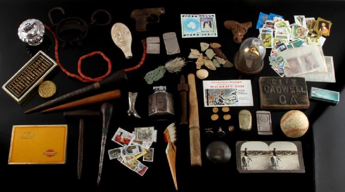 LARGE LOT OF GENERAL ANTIQUES & C0LLECTIBLES