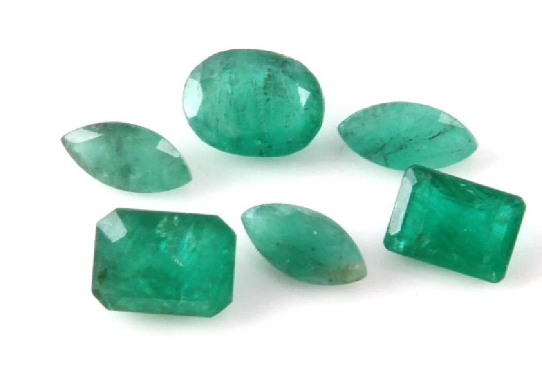 6 EMERALD LOOSE STONES 4.5 TCW OVAL MARQUISE EMER