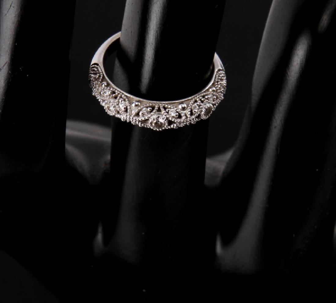 14KT WHITE GOLD DIAMOND RING WEDDING SET .75 TCW - 2