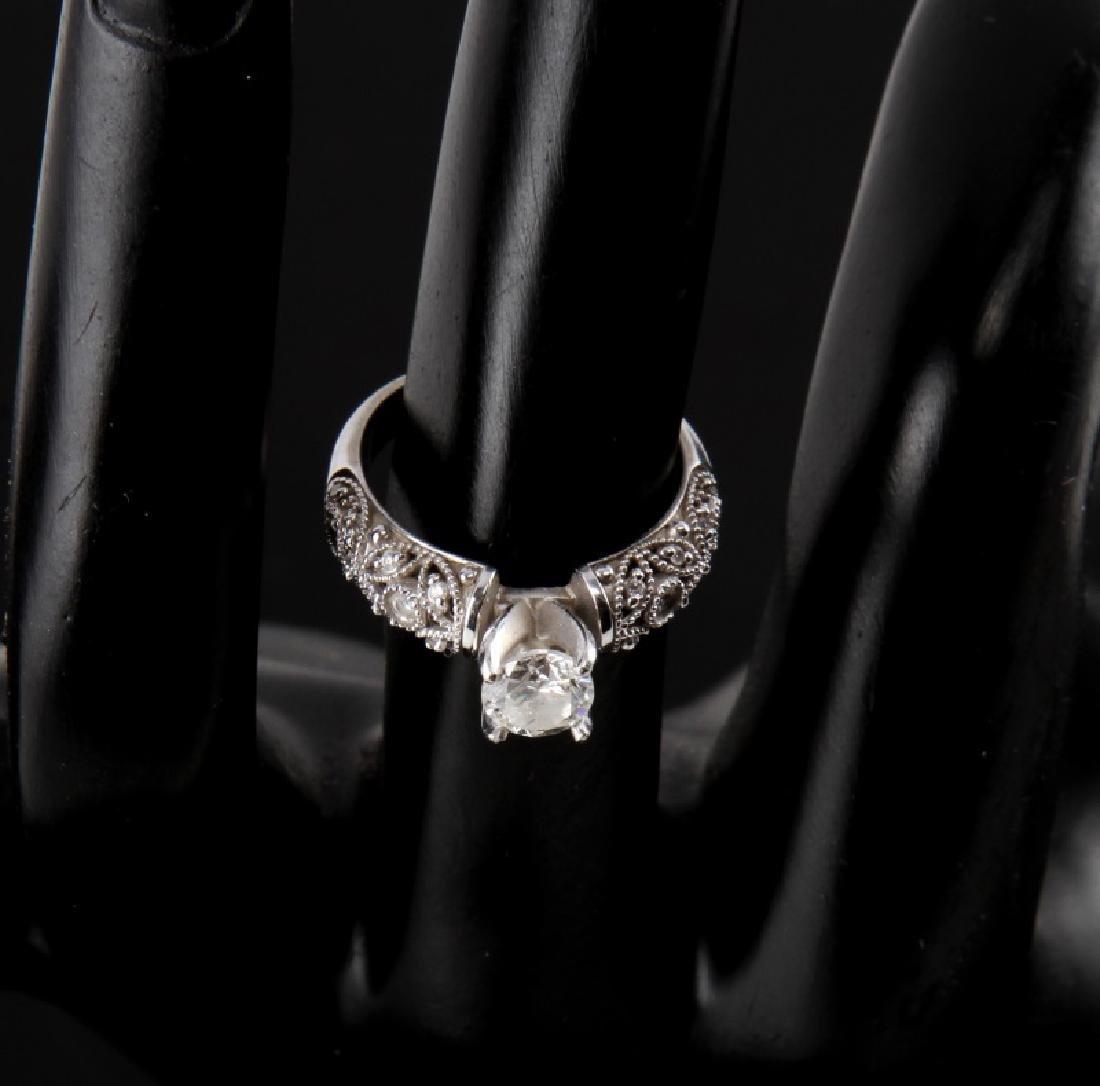 14KT WHITE GOLD DIAMOND RING WEDDING SET .75 TCW - 3