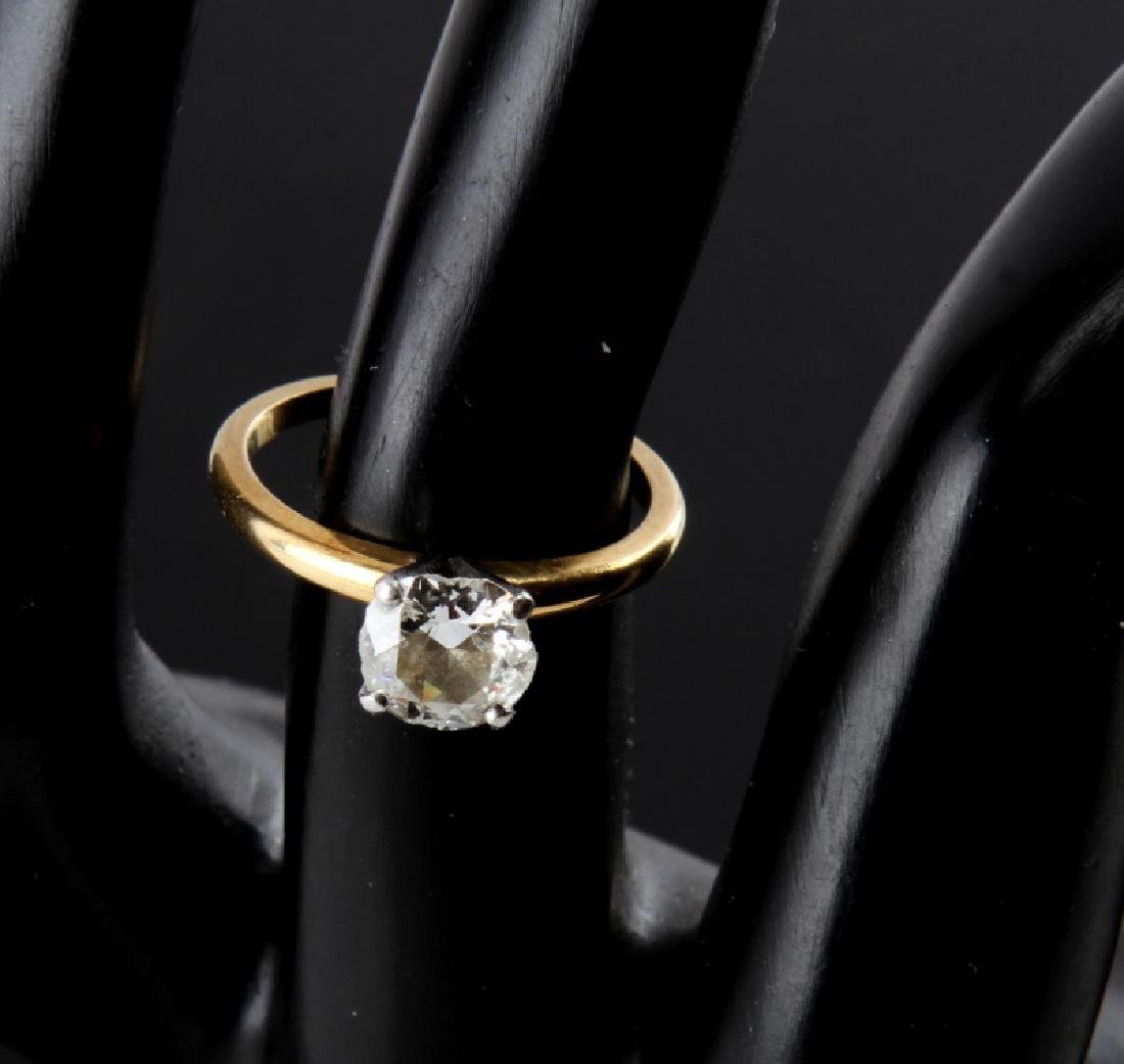 SOLITAIRE RD DIAMOND 18KT GOLD PLATINUM RING 1.25 - 2
