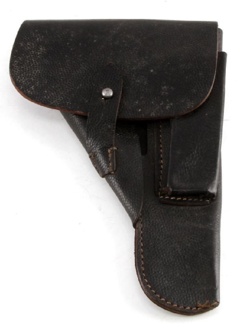 GERMAN WWII P38 TEXTURED LEATHER SHELL HOLSTER