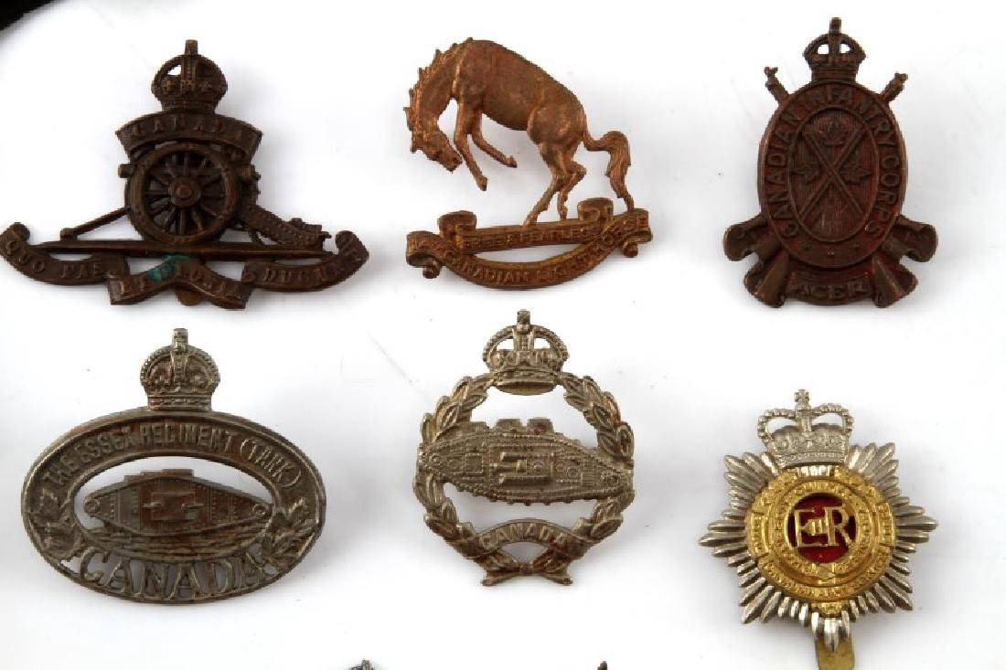9 WWII & POST WAR CANADIAN CAP BADGE LOT - 2