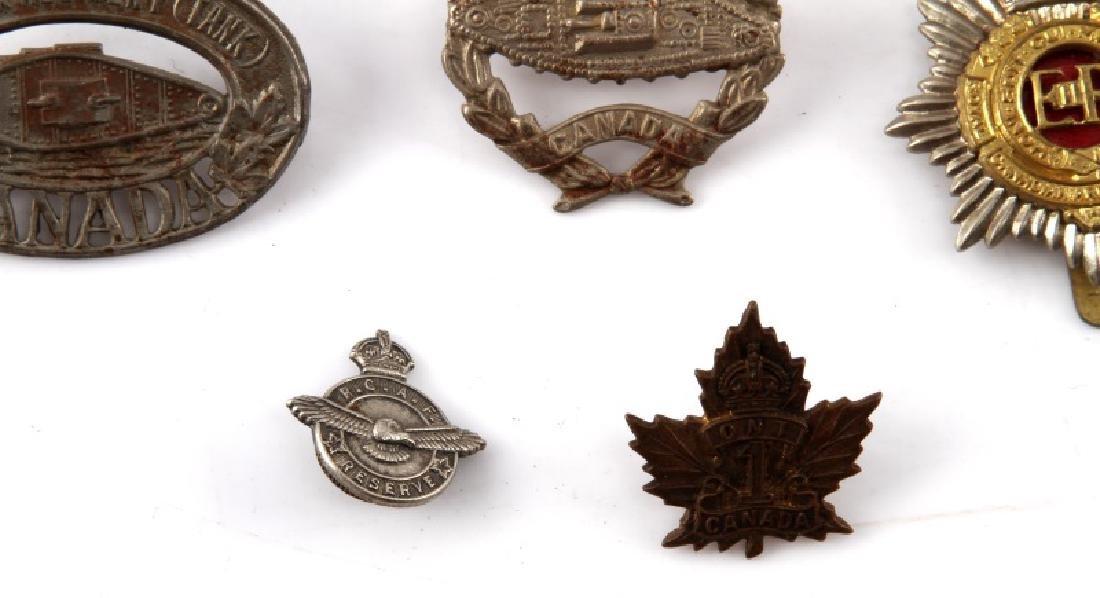 9 WWII & POST WAR CANADIAN CAP BADGE LOT - 3