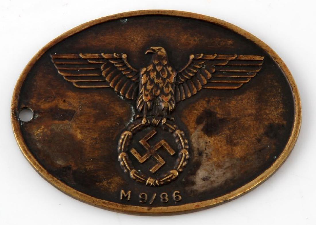 WWII GERMAN 3RD REICH STATSPOLIZEI GESTAPO ID DISK