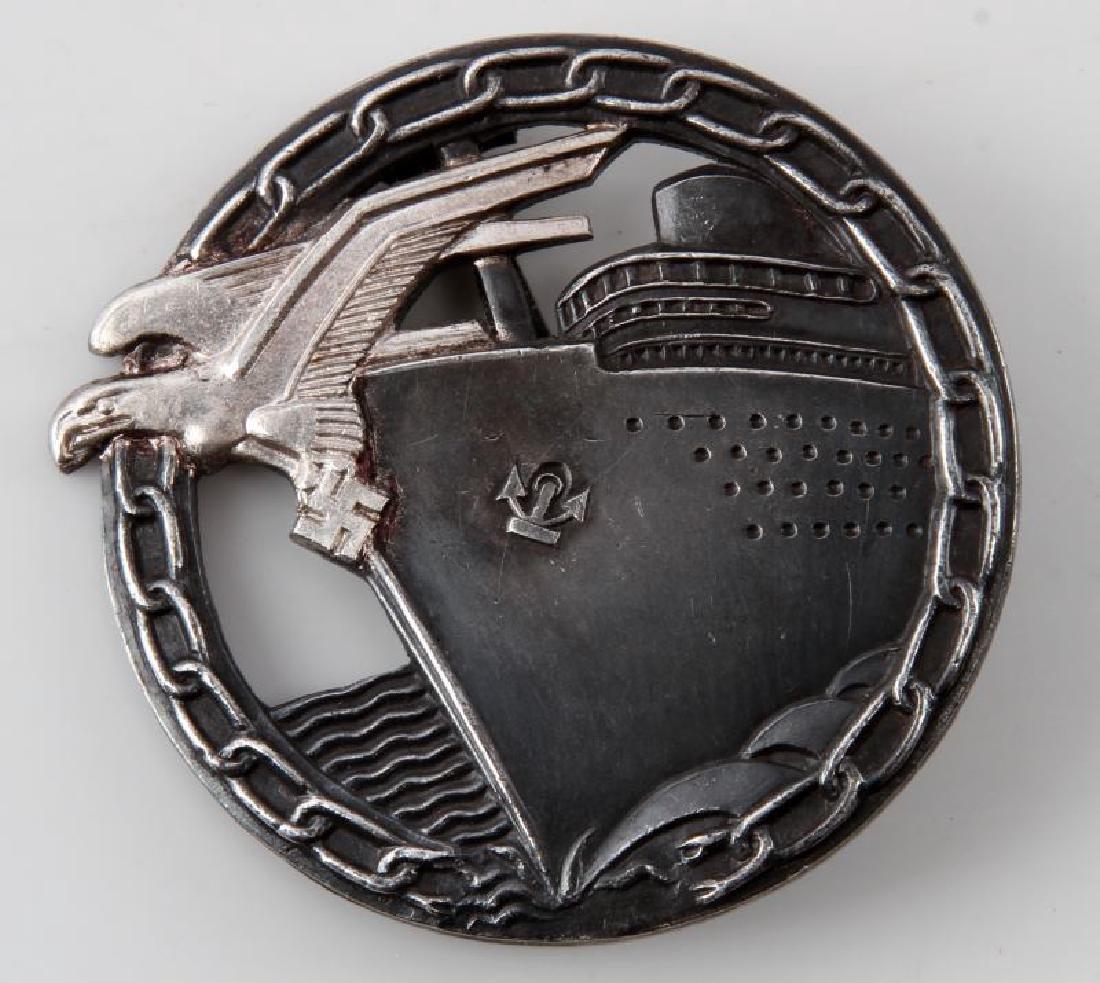 WWII GERMAN BLOCKADE RUNNER BADGE SCHWERIN BERLIN