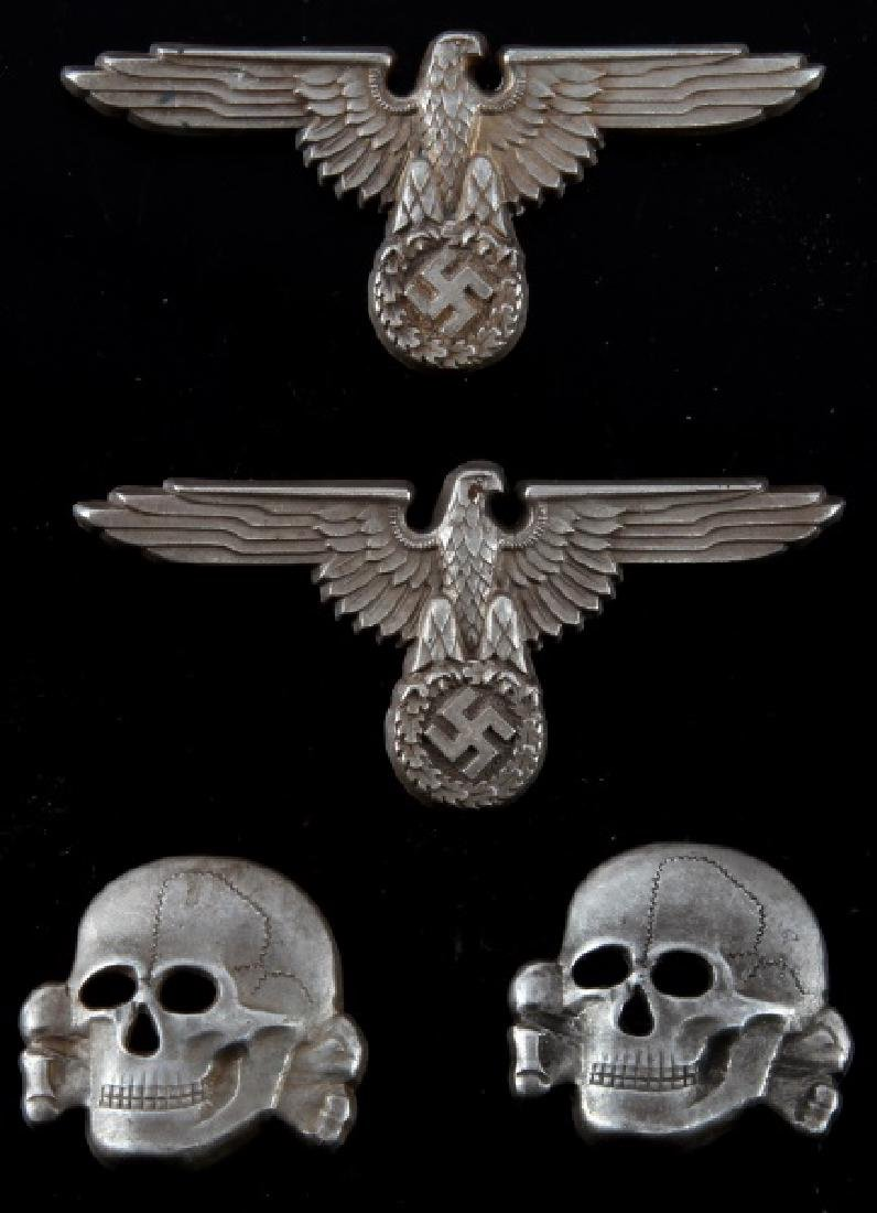 WWII GERMAN THIRD REICH SS DEATH HEAD INSIGNIA