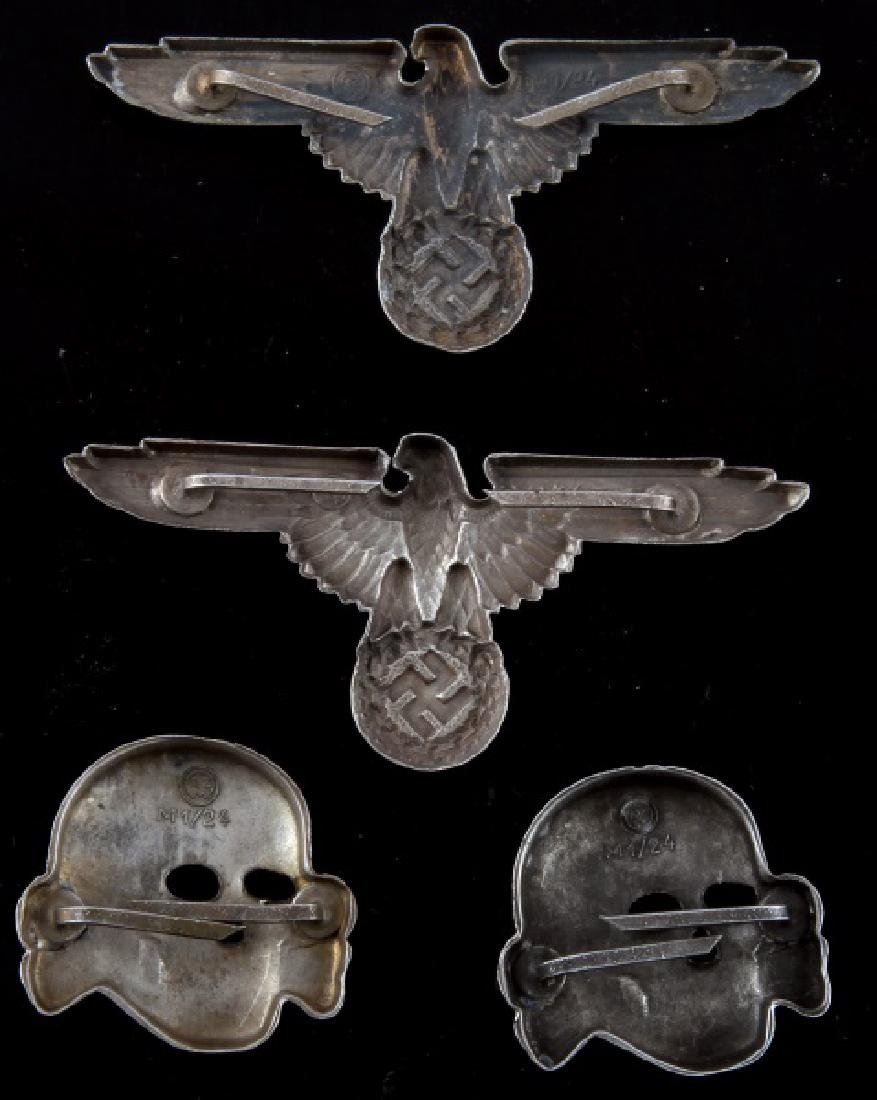 WWII GERMAN THIRD REICH SS DEATH HEAD INSIGNIA - 2