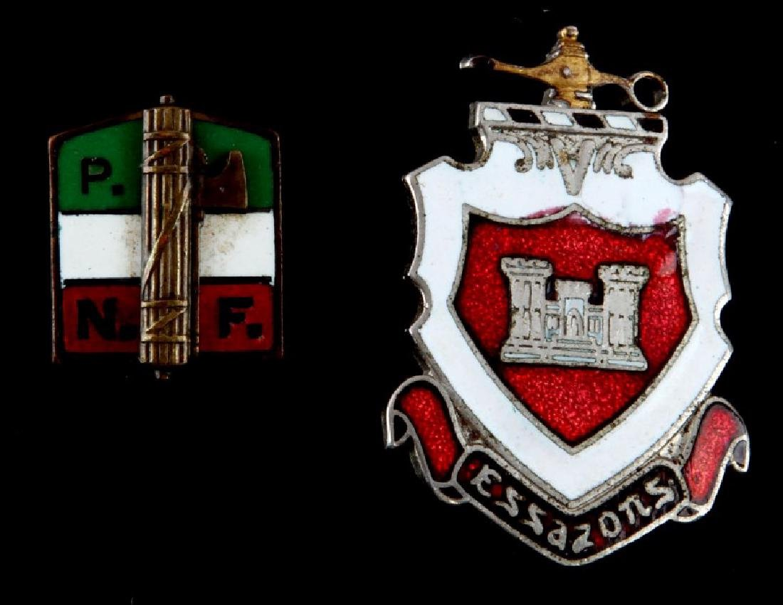 2 WWII FASCIST ITALIAN MILITARY AND PARTY PINS