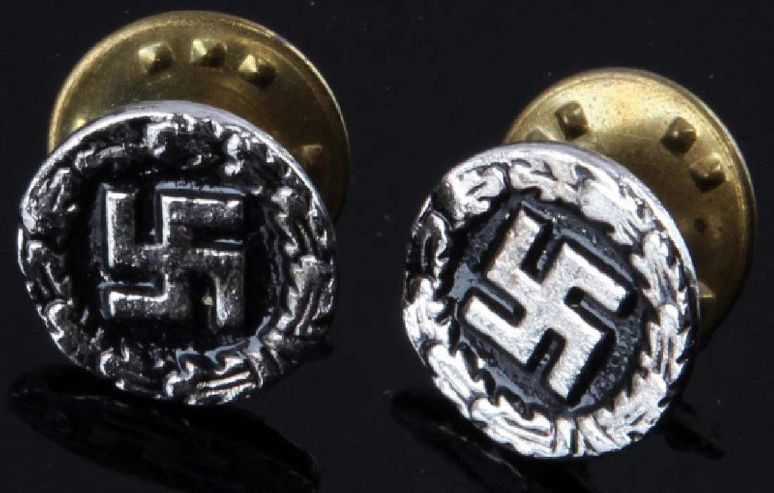 WWII GERMAN THIRD REICH SWASTIKA PIN LOT OF 2