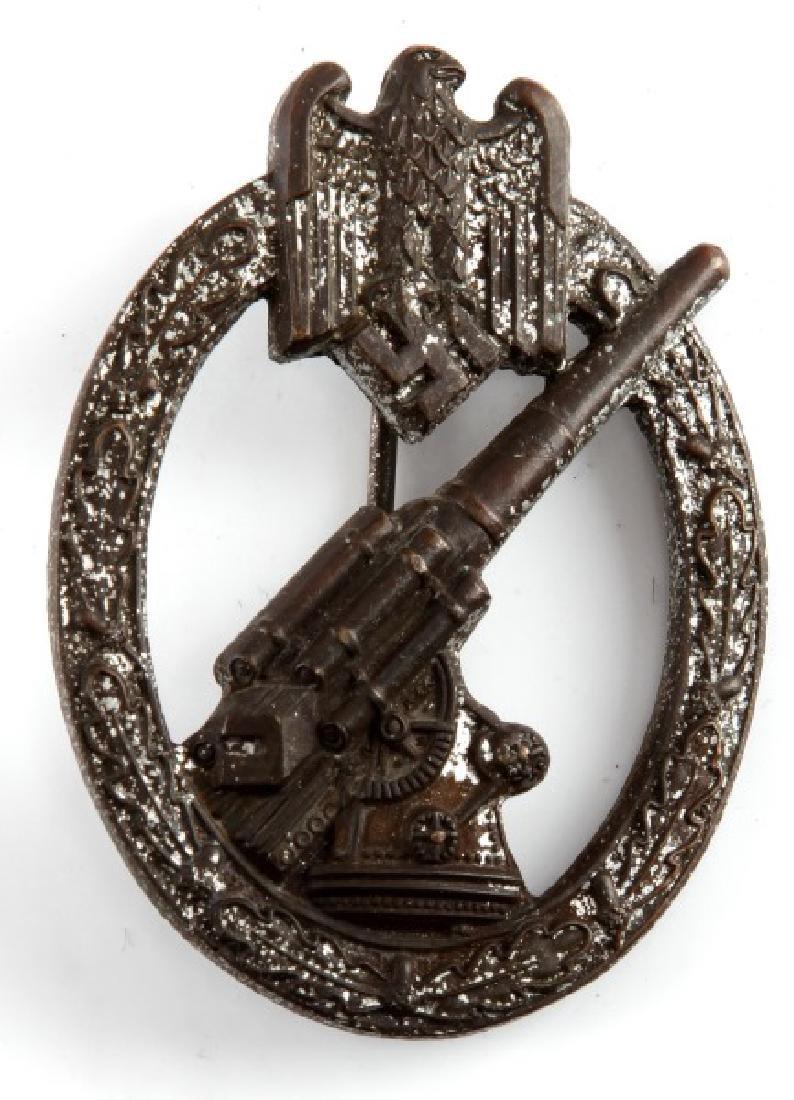 WWII GERMAN 3RD REICH ARMY FLAK GUNNER BADGE