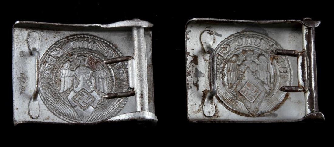 2 GERMAN WWII BELT BUCKLES RZM STAMP BLUT UND EHRE - 2