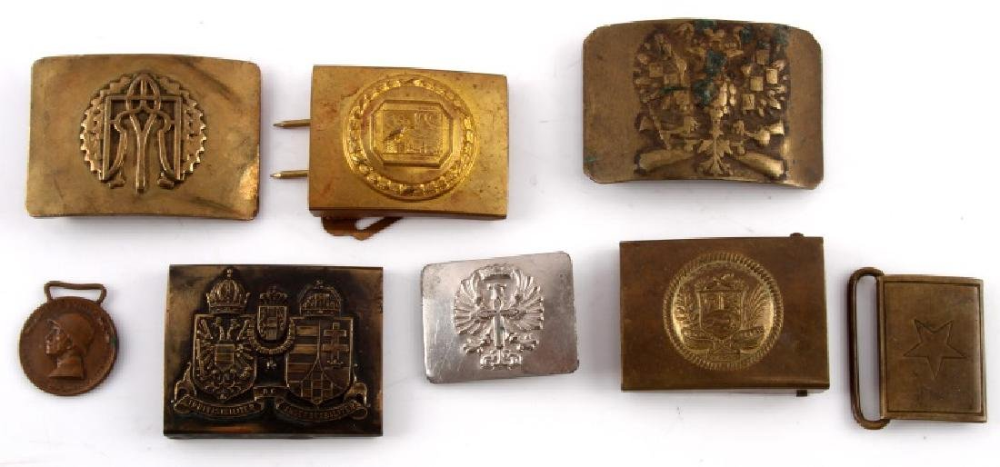 LOT OF 8 ANTIQUE  MILITARY & FRATERNAL BELT BUCKLE