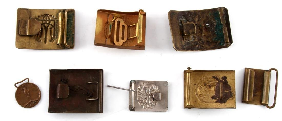 LOT OF 8 ANTIQUE  MILITARY & FRATERNAL BELT BUCKLE - 4