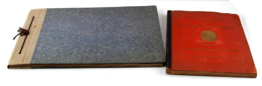 LOT 2 WWII GERMAN CIGARETTE CARD BOOKS EX LIBRIS