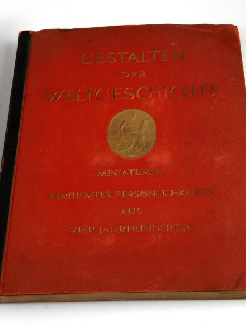 LOT 2 WWII GERMAN CIGARETTE CARD BOOKS EX LIBRIS - 2