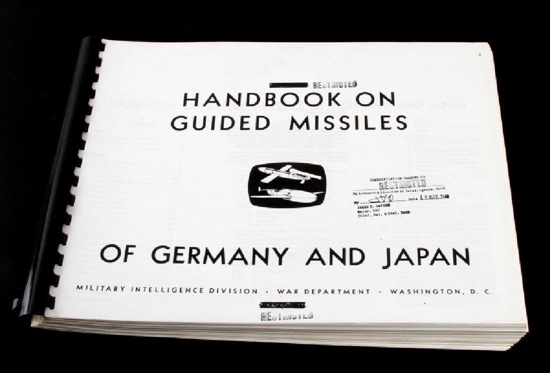 WWII US HANDBOOK ON AXIS GUIDED MISSILE TECHNOLOGY