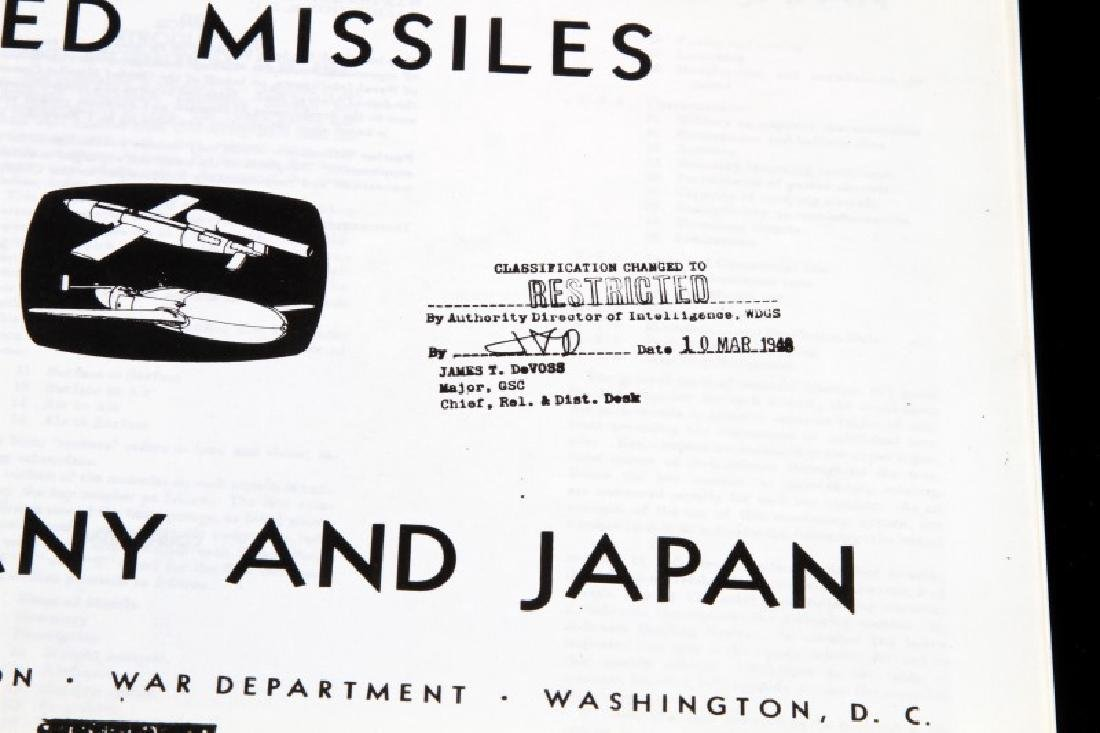 WWII US HANDBOOK ON AXIS GUIDED MISSILE TECHNOLOGY - 2