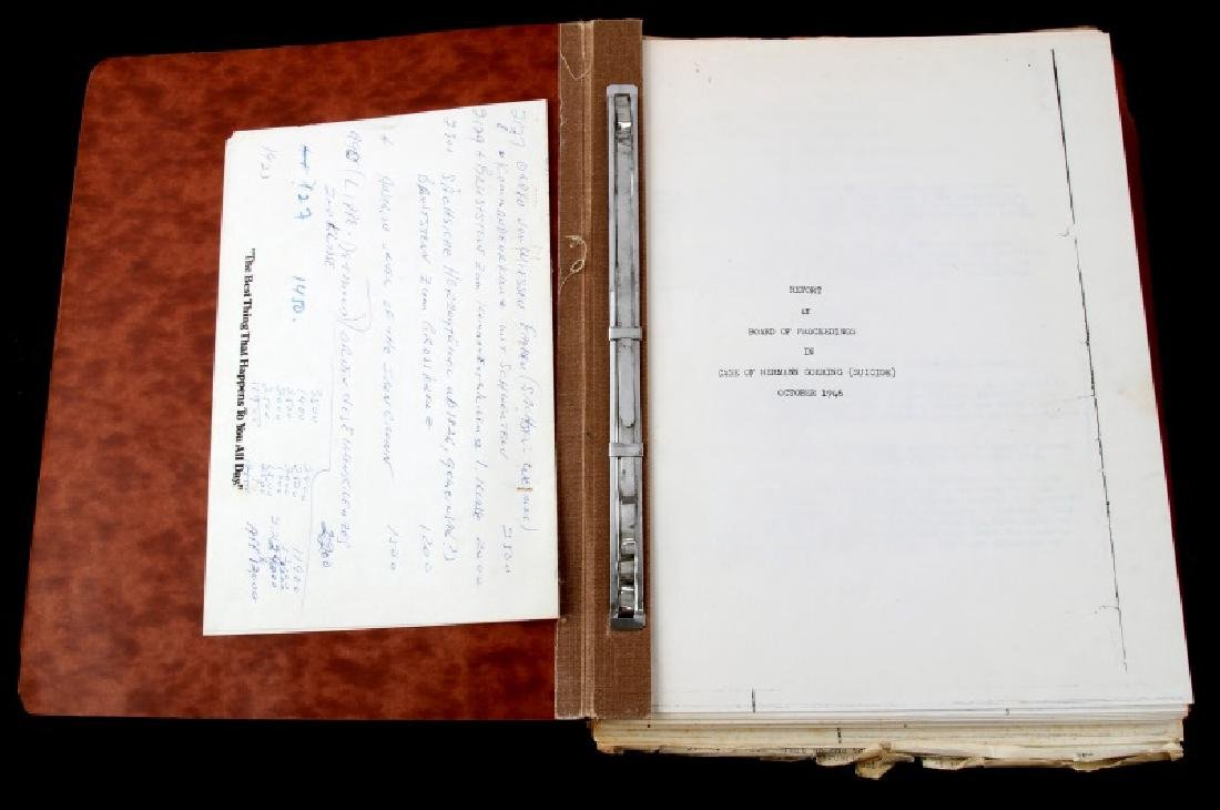 WWII HERMANN GOERING GORING SUICIDE REPORT US ARMY
