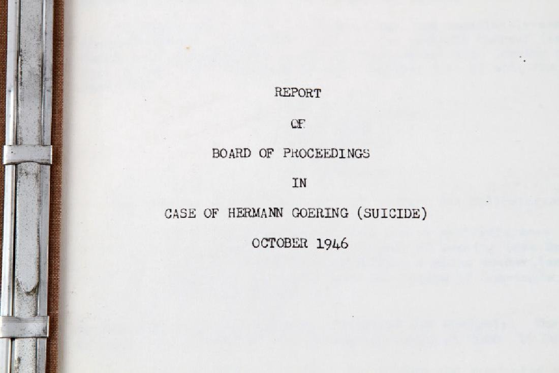 WWII HERMANN GOERING GORING SUICIDE REPORT US ARMY - 2