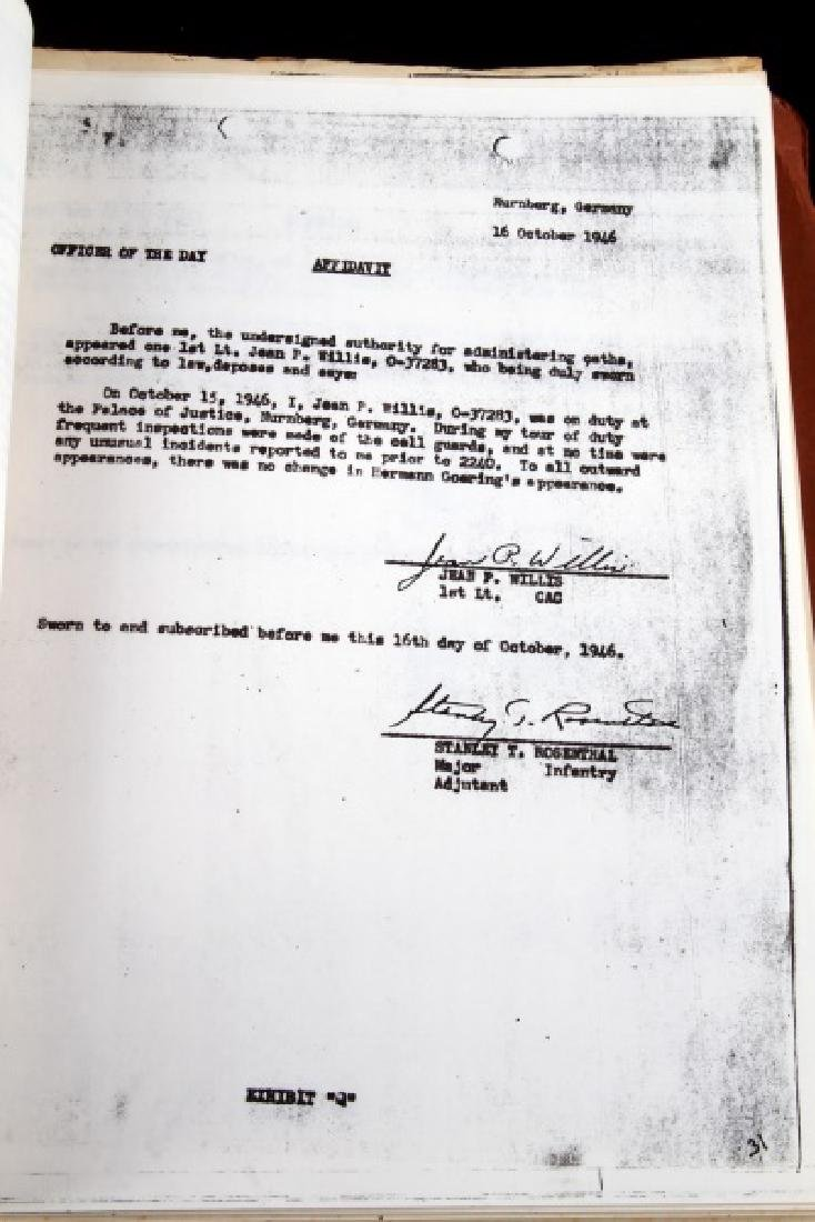 WWII HERMANN GOERING GORING SUICIDE REPORT US ARMY - 4