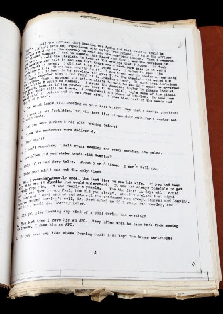 WWII HERMANN GOERING GORING SUICIDE REPORT US ARMY - 6