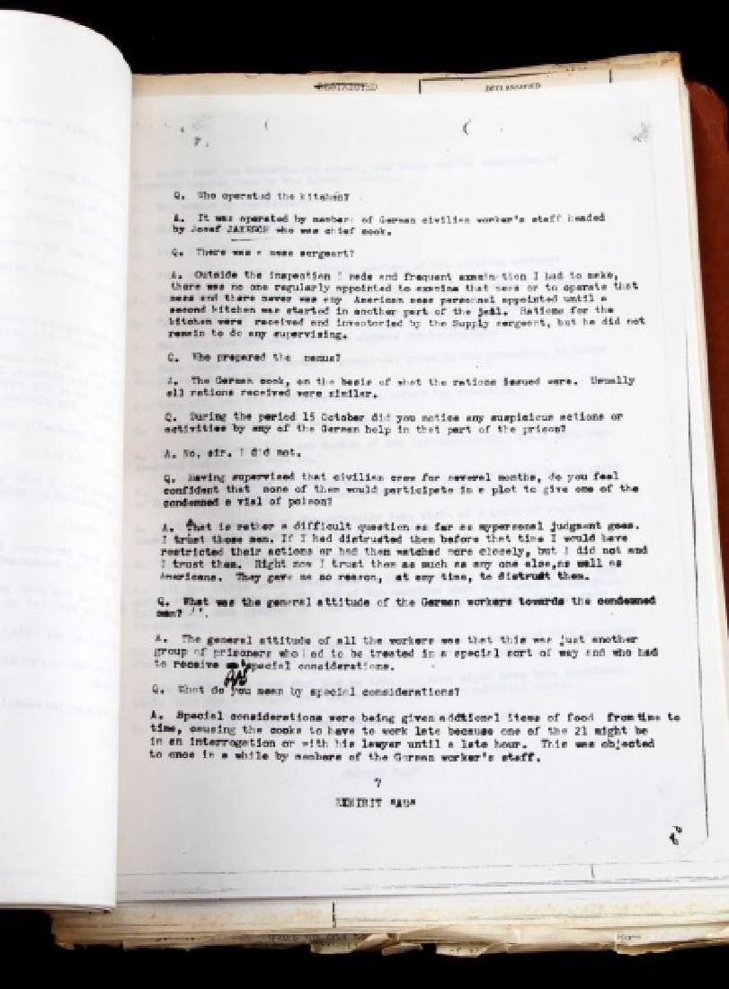 WWII HERMANN GOERING GORING SUICIDE REPORT US ARMY - 8