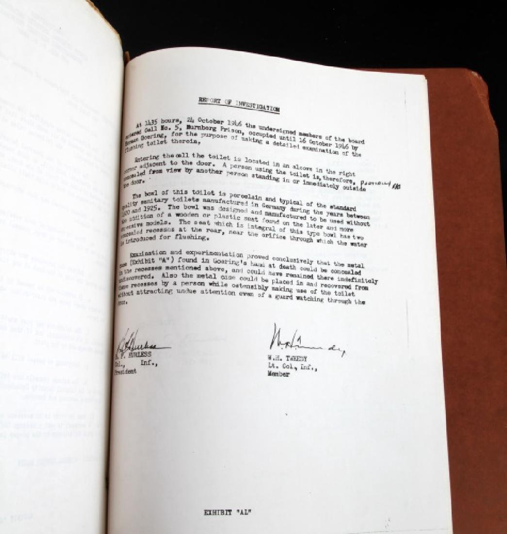 WWII HERMANN GOERING GORING SUICIDE REPORT US ARMY - 9