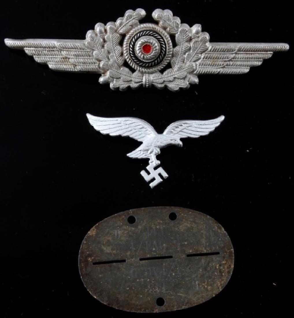 3 WWII GERMAN 3RD REICH LUFTWAFFE UNIFORM PARTS