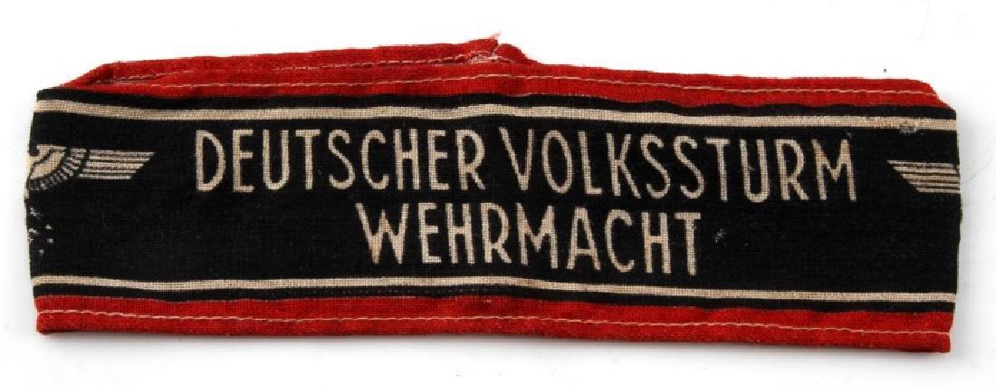 WWII GERMAN DEUTSCHER VOLKSSTRUM WEHRMACHT ARMBAND