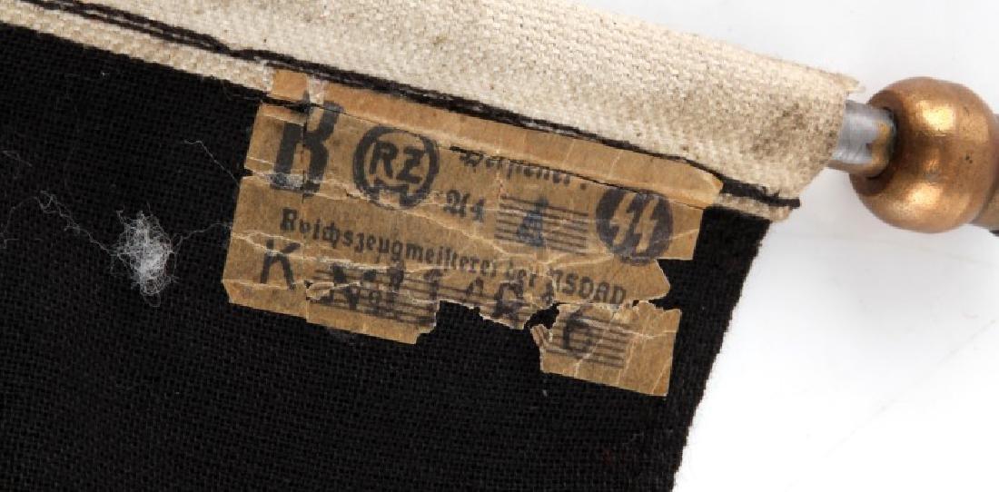 WWII GERMAN THIRD REICH SS TOTENKOPF PENNANT - 3