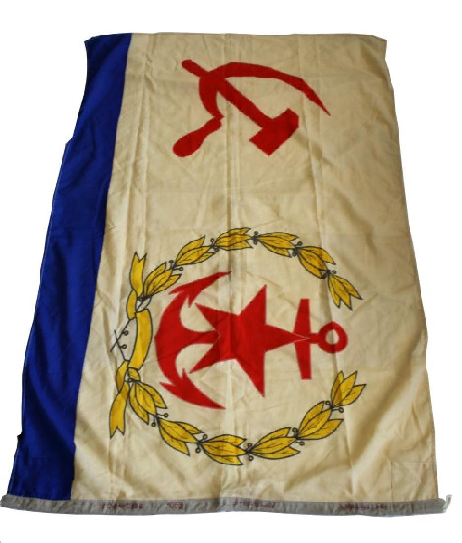 WWII USSR SOVIET UNION CCCP NAVAL FLAG - 2