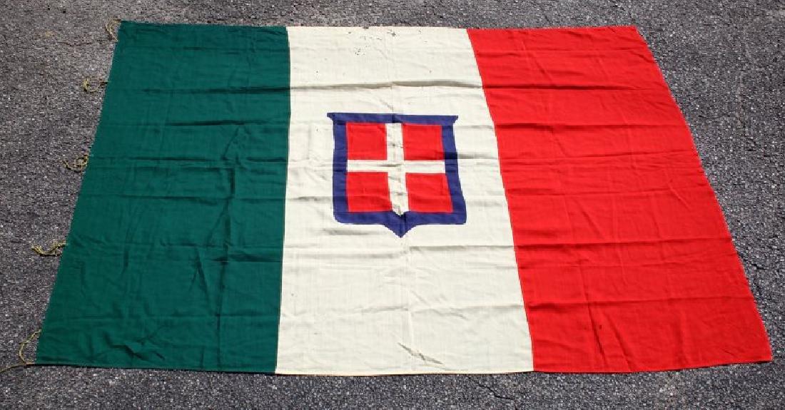 KINGDOM OF SAVOY SARDINIA  ANTIQUE FLAG 1848-1946