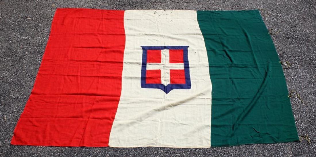 KINGDOM OF SAVOY SARDINIA  ANTIQUE FLAG 1848-1946 - 3