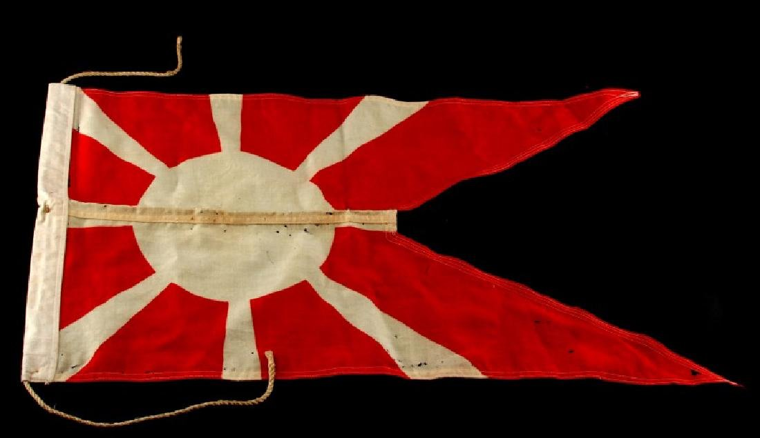 WWII IMPERIAL JAPAN RISING SUN PENNANT FLAG