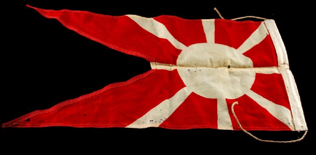 WWII IMPERIAL JAPAN RISING SUN PENNANT FLAG - 4