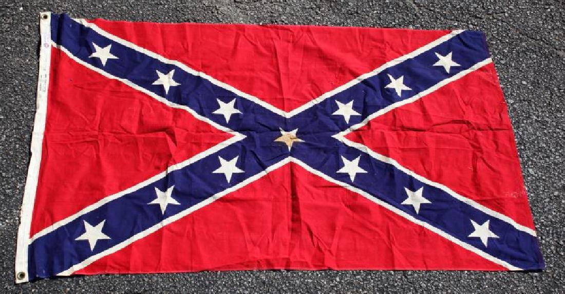 VINTAGE CONFEDERATE STARS AND BARS FLAG